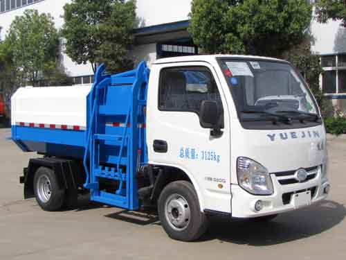 跃进小福星3方挂桶垃圾车\跃进小福星3方自装卸式垃圾车