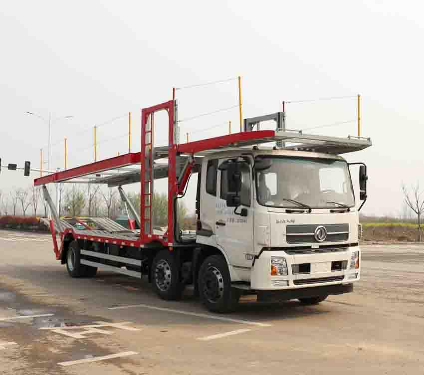 車輛運輸車主要結構雙排冷藏車輛運輸車圖片
