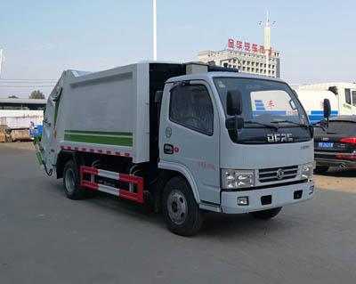 東風多利卡藍牌5方壓縮垃圾車