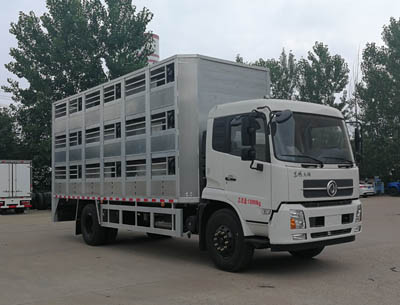 东风天锦猪仔运输车(铝合金箱体6.5米厢长)