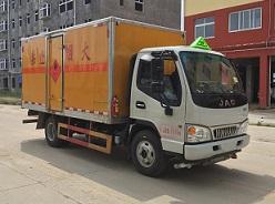 江淮蓝牌易燃气体厢式运输车