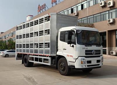 东风天锦猪仔运输车(铝合金箱体7.6米厢长)
