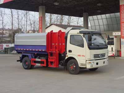 东风多利卡8吨挂桶式垃圾车