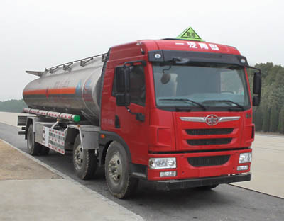 青岛解放25方铝合金运油车
