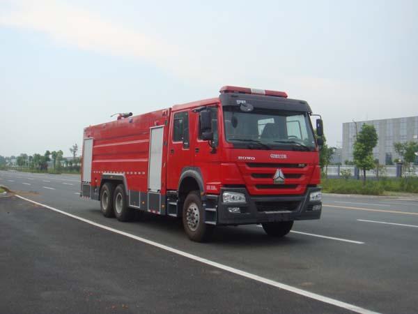 重汽豪沃16吨水罐泡沫消防车