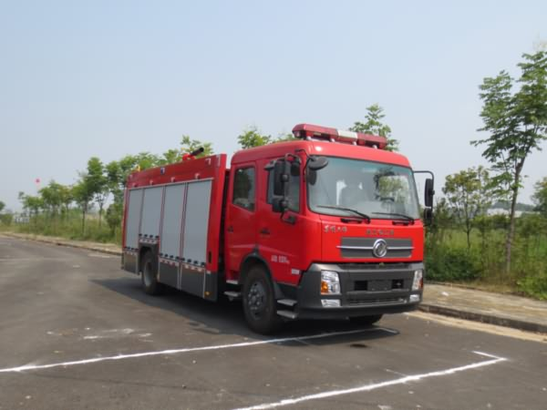 东风天锦6吨泡沫 水灌消防车