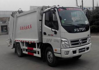 山东巨环专用汽车ZJH5084ZYS型福田欧马可压缩式垃圾车