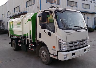 山东巨环专用汽车ZJH5072ZZZ型自装卸式垃圾车