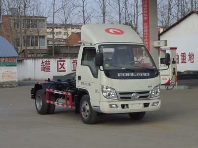 福田小卡5吨车厢可卸式垃圾车