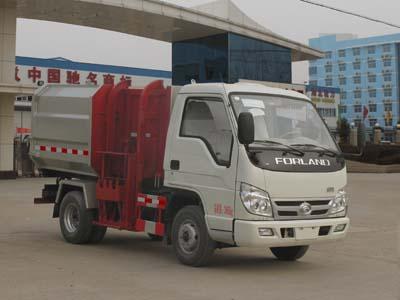 福田小卡3吨挂桶垃圾车
