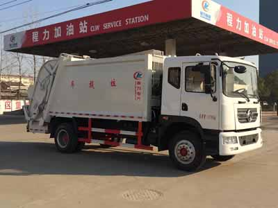 东风D9后挂桶压缩式垃圾车(12方)