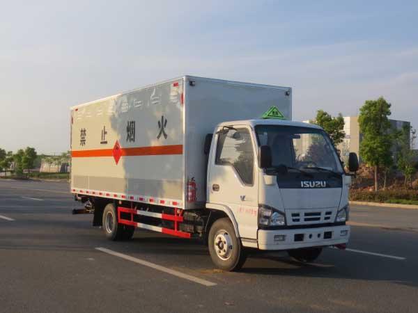五十铃易燃气体厢式运输车
