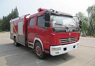 4噸國六東風大多利卡泡沫消防車|4方東風泡沫消防車