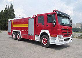 16噸重汽豪沃泡沫消防車|16方重汽豪沃泡沫消防車