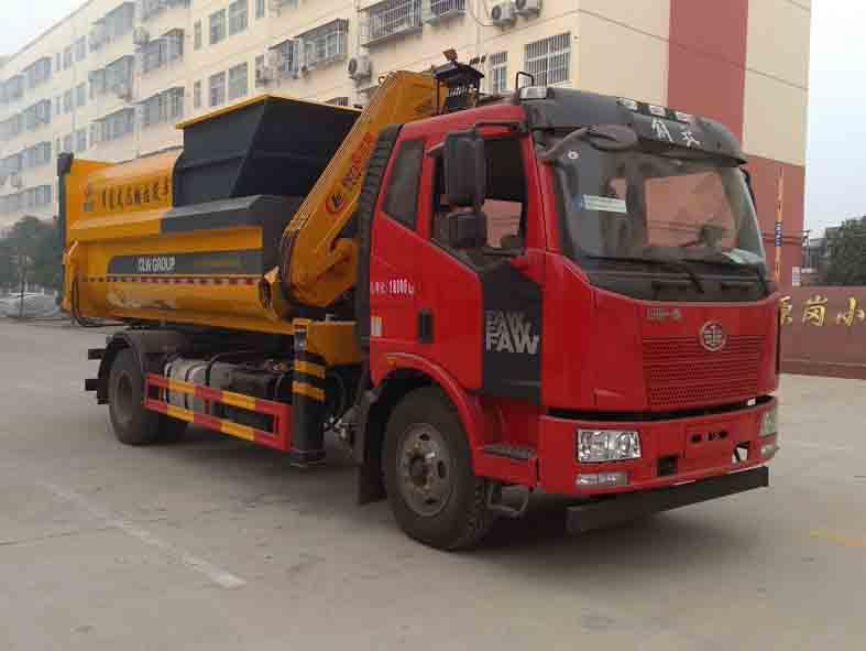 吊装式压缩垃圾车深埋式压缩垃圾桶图片