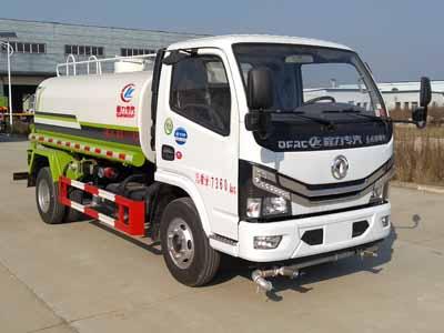 国六东风D6多利卡洒水车(5吨)