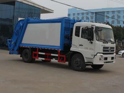 东风天锦14方后装压缩式垃圾车