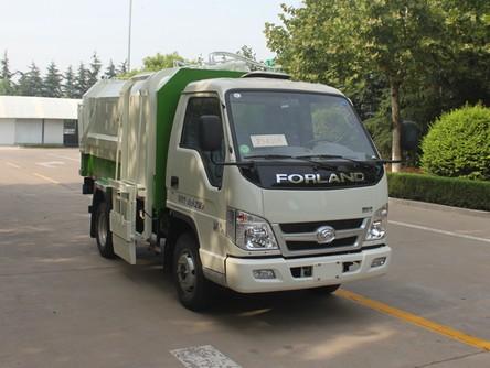 福田3方自装卸式垃圾车的组成部分_大型生活垃圾运输车