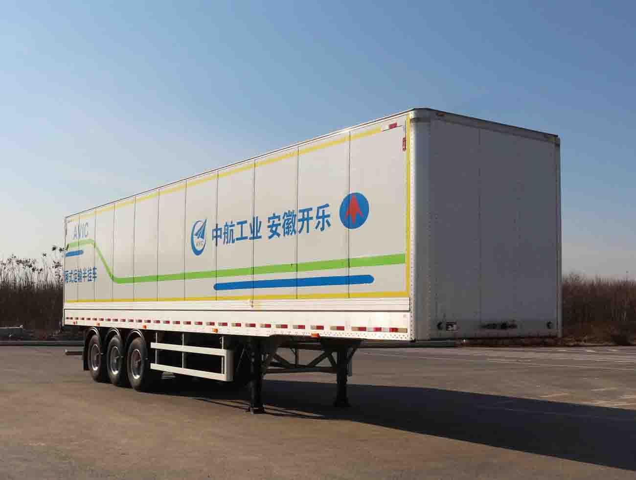 安徽开乐专用车辆AKL9409XXYS型厢式运输半挂车