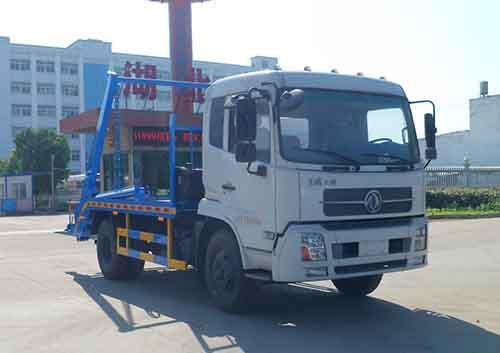 东风天锦12吨摆臂式垃圾车