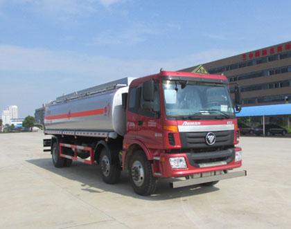 国五欧曼小三轴20吨运油车图片
