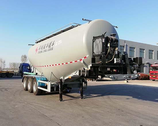 品质最优的汇袁牌45吨中密度粉粒物料运输半挂车(AJH9402GFL)粉粒物料运输车价格