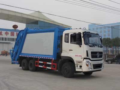 东风天龙18吨压缩式垃圾车