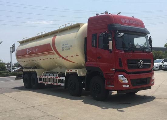东风天龙前四后八低密度粉粒物料运输车图片