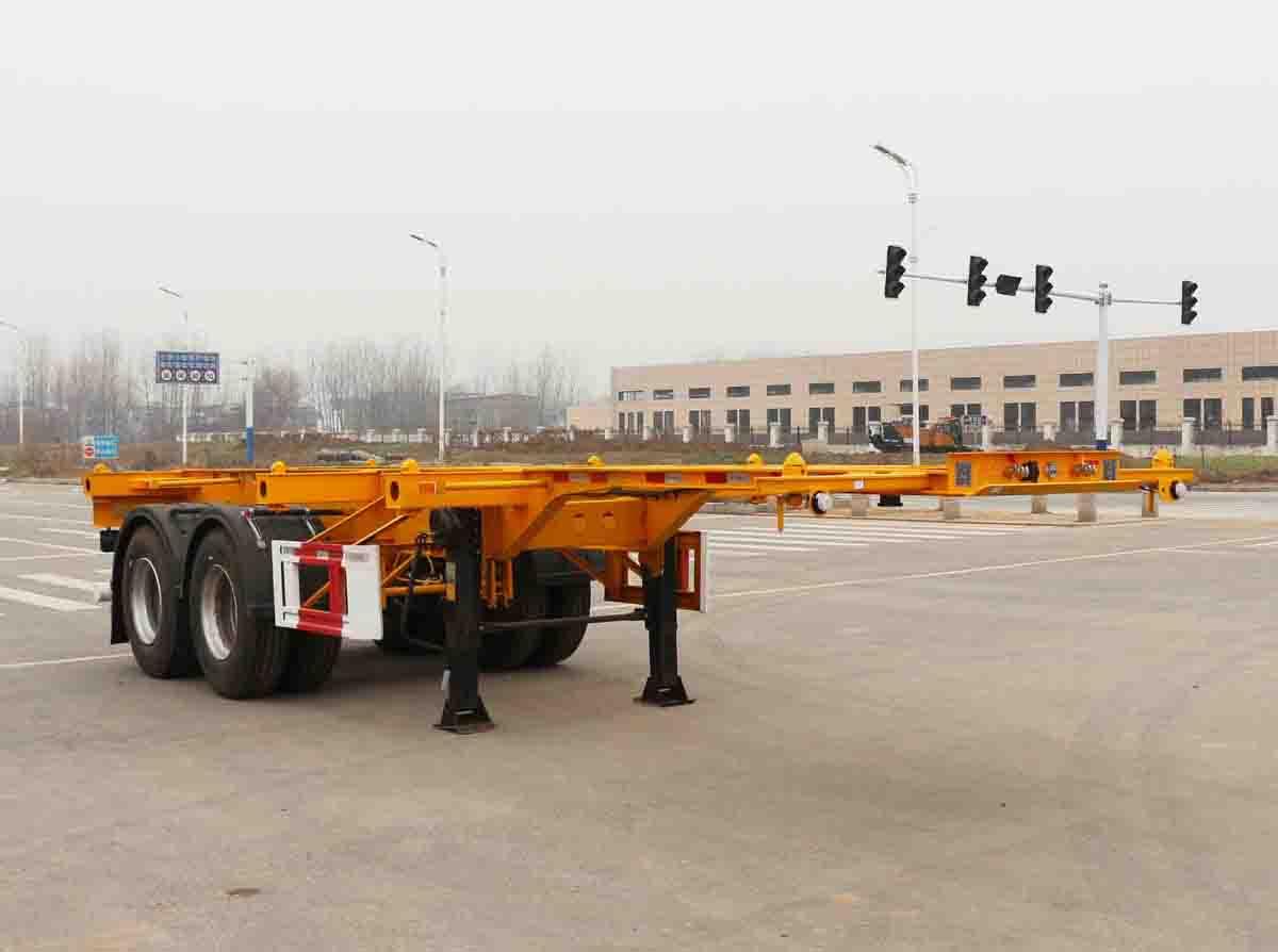 安徽开乐专用车辆AKL9359TJZ型集装箱运输半挂车