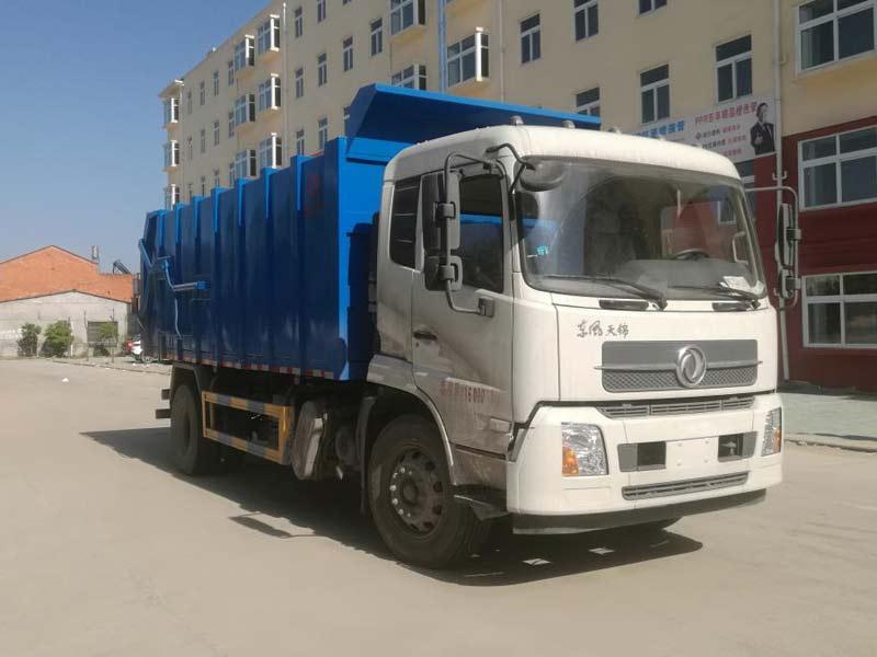 东风天锦垃圾车 压缩式对接垃圾车