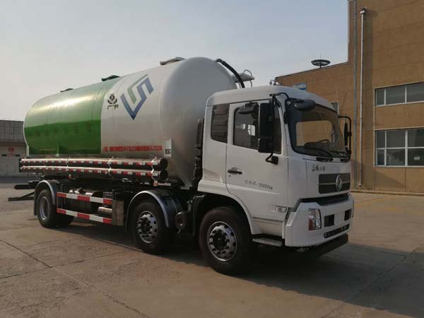 东风天锦小三轴30方15吨散装饲料运输车