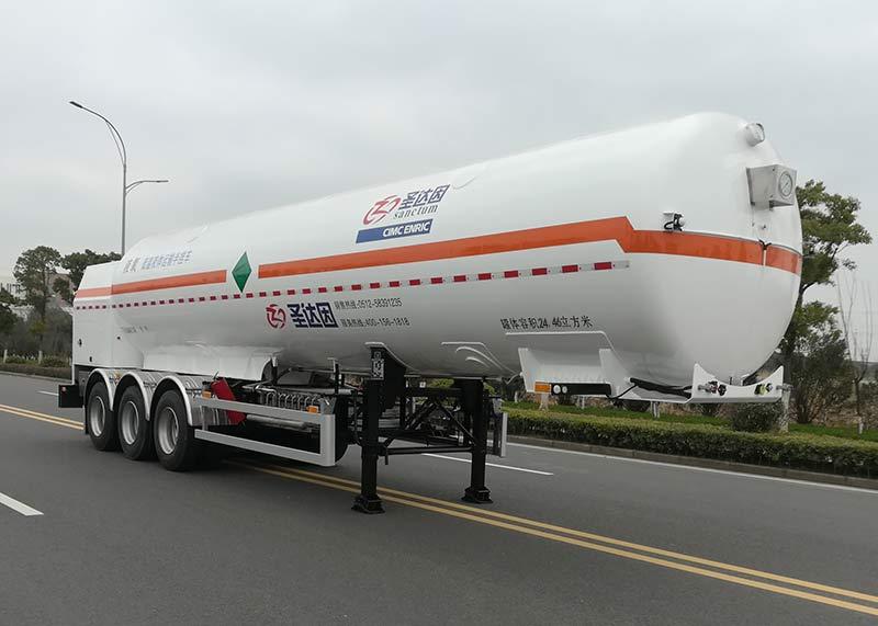 低温液体运输半挂车图片