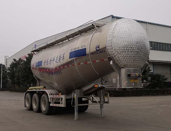 安徽开乐专用车辆AKL9400GFLL2型铝合金中密度粉粒物料运输半挂车