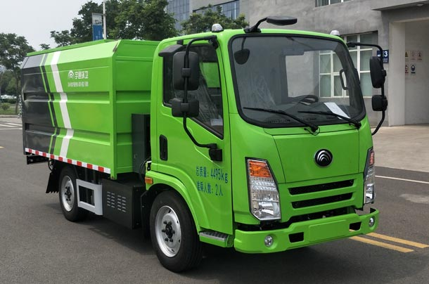 纯电动密闭式桶装垃圾车图片
