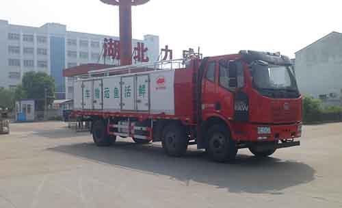 解放J6小三轴鲜活水产品运输车图片