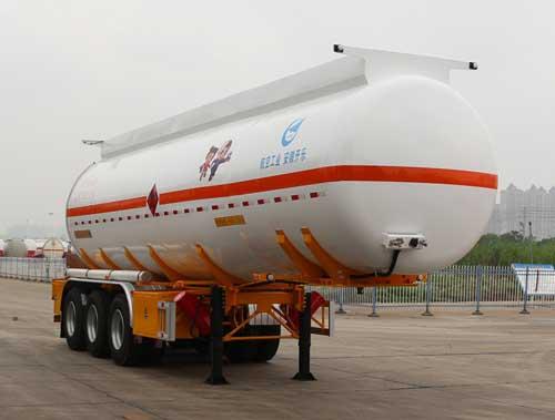安徽开乐专用车辆AKL9400GRY36型易燃液体罐式运输半挂车
