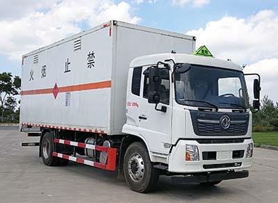 易燃气体厢式运输车图片
