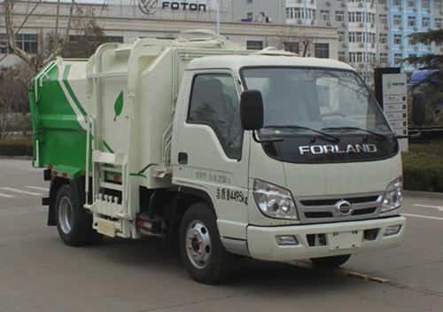 福田牌3方自装卸式垃圾车图片、价格及参数医疗垃圾车购买