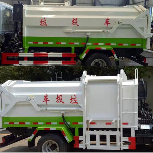 国六小多利卡自装卸式垃圾车图片