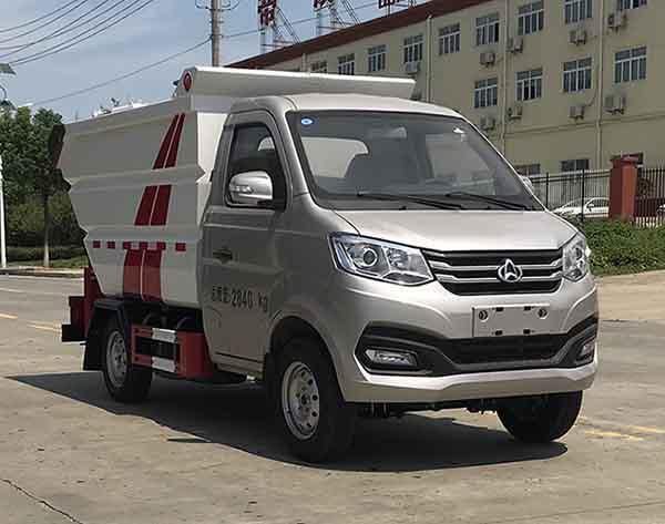 国六长安单轮3方自装卸式(无泄漏)垃圾车