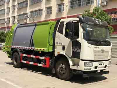 国六解放J6L新款15方压缩式垃圾车