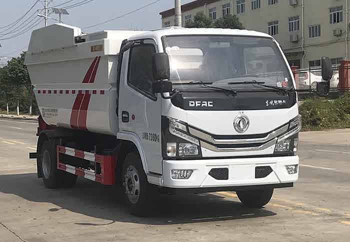 国六东风小多利卡7方(无泄漏)自装卸式垃圾车