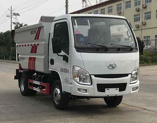 国六小跃进后双轮4方(无泄漏)自装卸式垃圾车