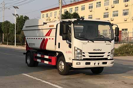 国六大庆铃五十铃7方(无泄漏)自装卸式垃圾车