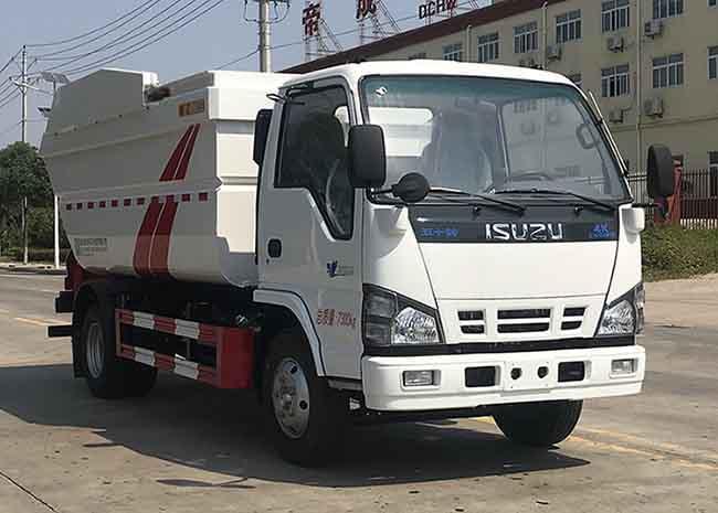 国六庆铃五十铃7方(无泄漏)自装卸式垃圾车