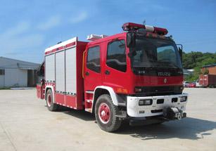 HXF5120TXFJY80/QL抢险救援消防车