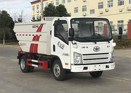 国六解放虎V 4方(无泄漏)自装卸式垃圾车