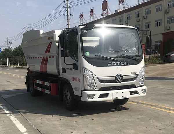 国六福田奥铃7方(无泄漏)自装卸式垃圾车