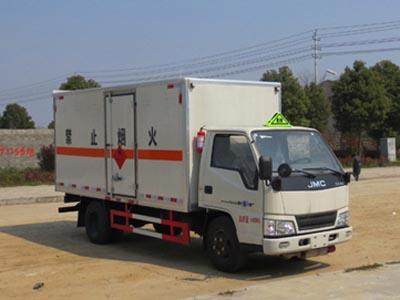 江铃易燃气体厢式运输车(4.2米)