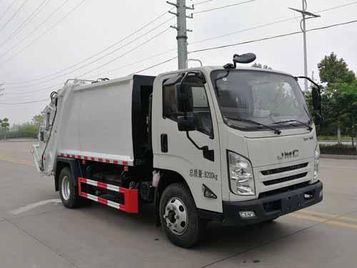 国六江铃8方压缩式垃圾车